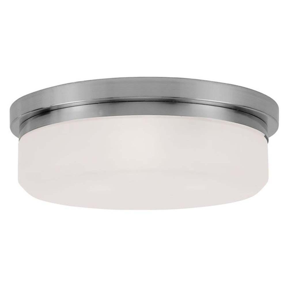 Providence 3-Light Ceiling Brushed Nickel Incandescent Flush Mount