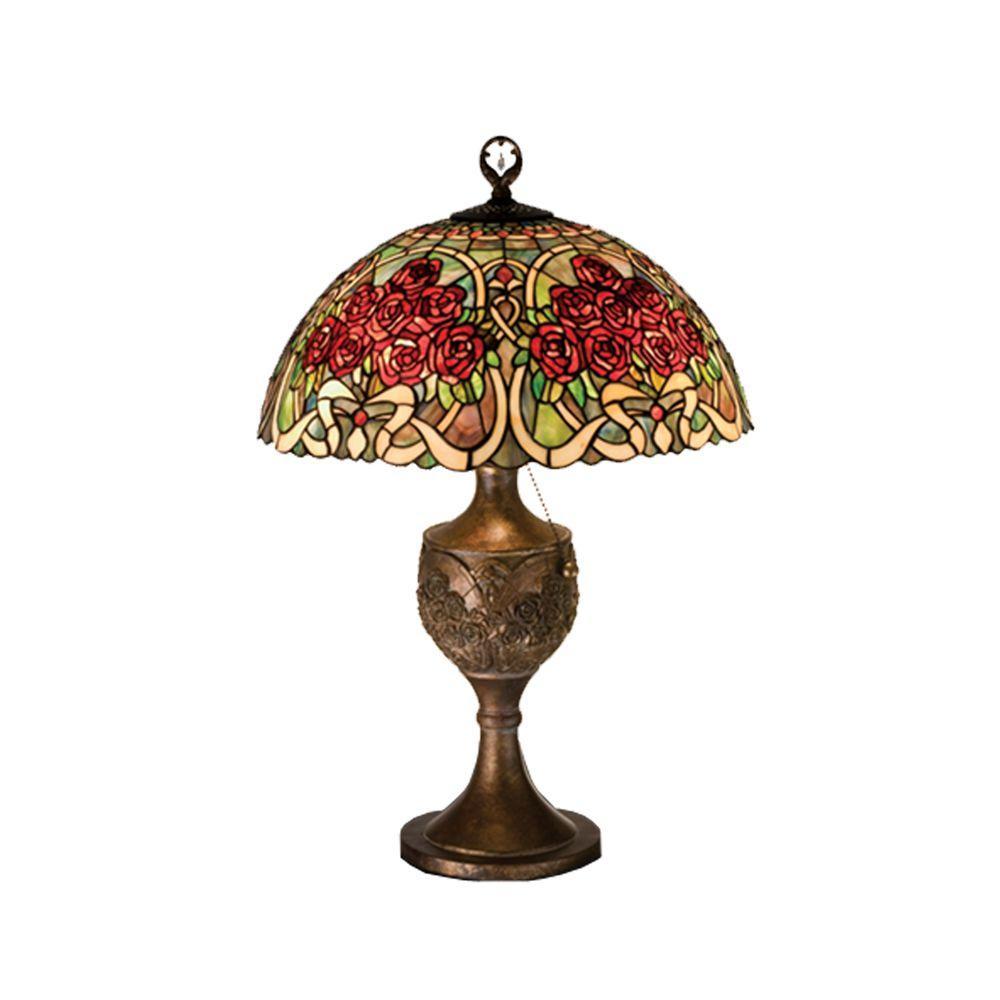 Illumine 1 Light Rose Bouquet Accent Lamp