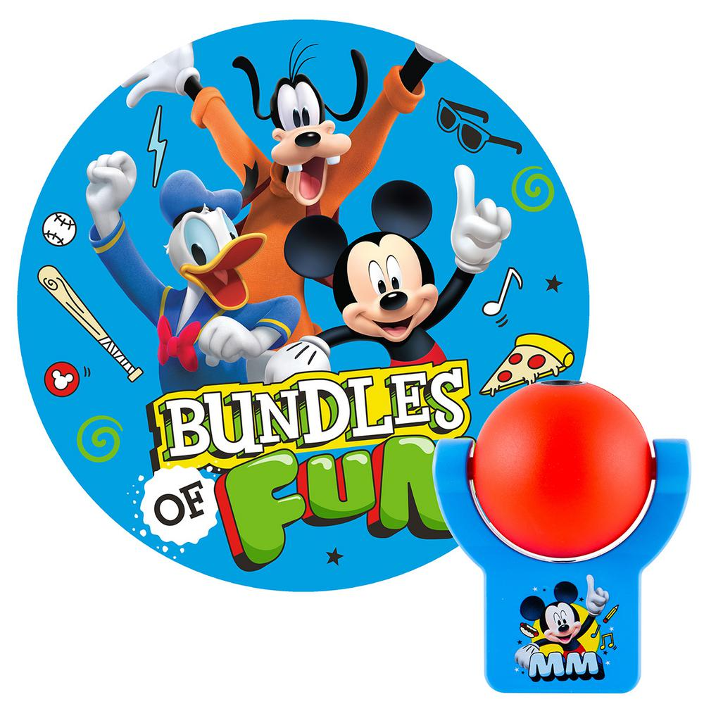 Projectables Disney Mickey Mouse Roadsters Automatic LED Night Light