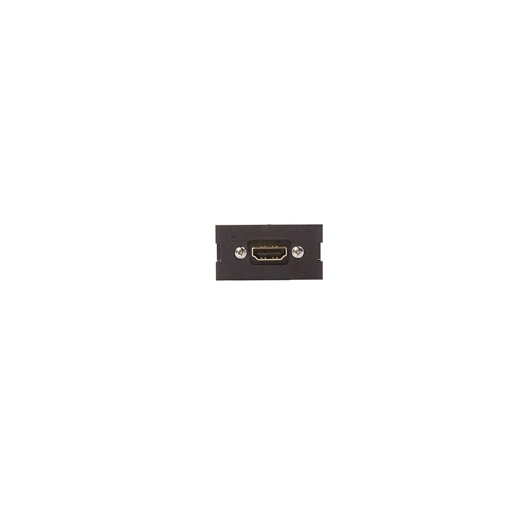 HDMI Feedthrough Multimedia Outlet System (MOS) Module, Black