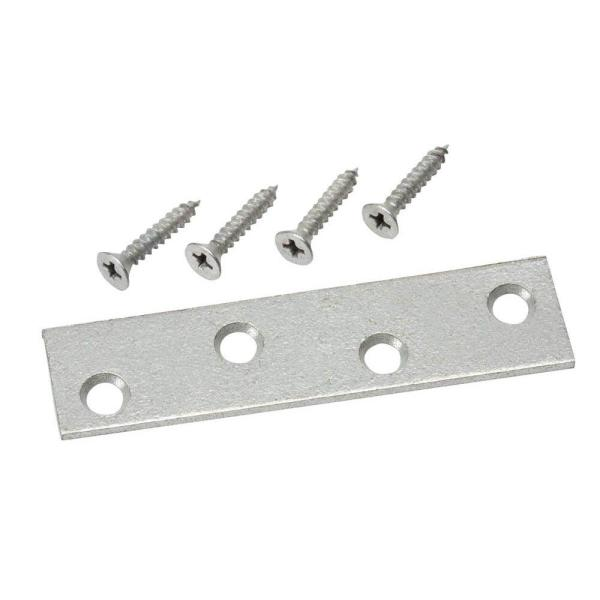 3 in. Galvanized Mending Plate (2-Pack)