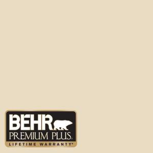 Behr premium plus 8 oz 1822 navajo white interior exterior paint sample 1822pp the home depot for Behr exterior white paint colors