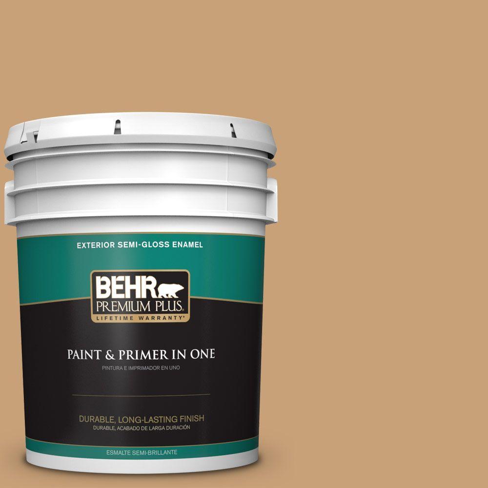 5-gal. #BXC-70 Fresh Sawdust Semi-Gloss Enamel Exterior Paint