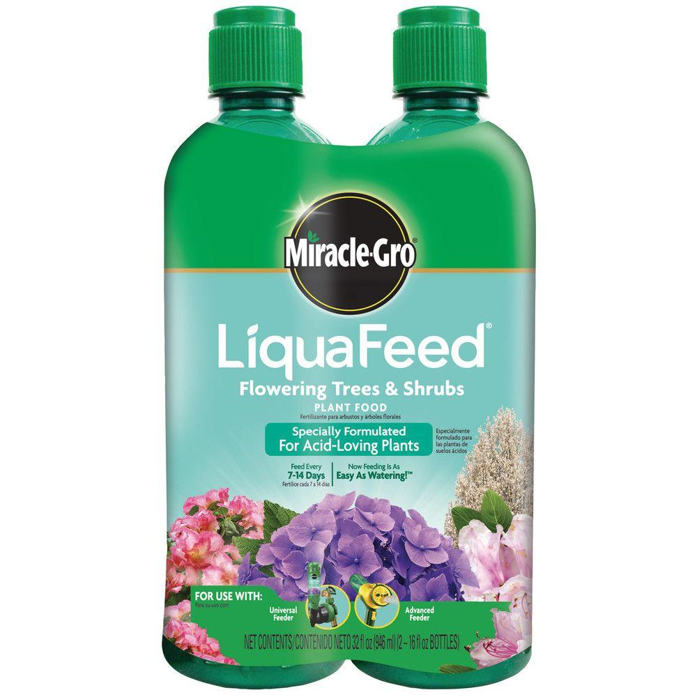 Miracle Gro Liquafeed 16 Oz Flowering Tree And Shrubs Plant Food Refill 2 Pack 112100 The