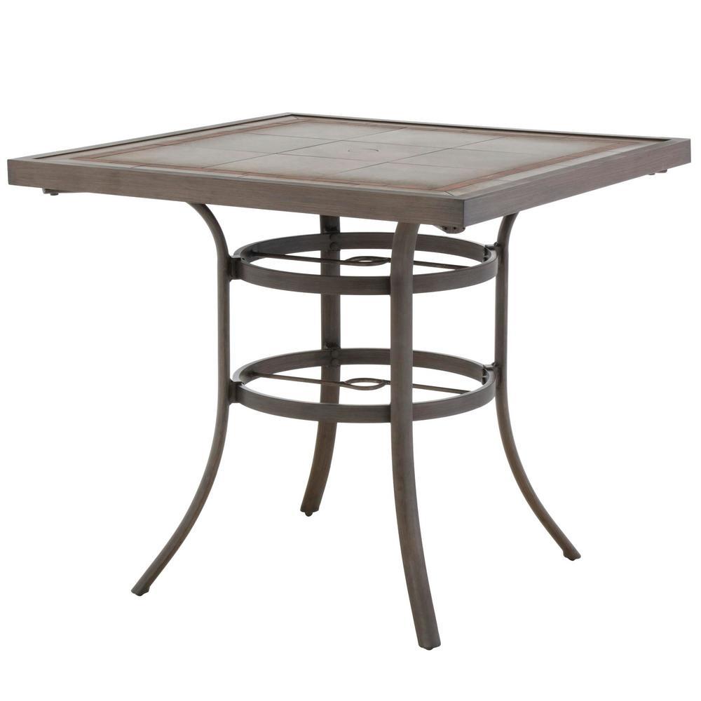 Sun Valley Aluminum Bar Height Outdoor Dining Table