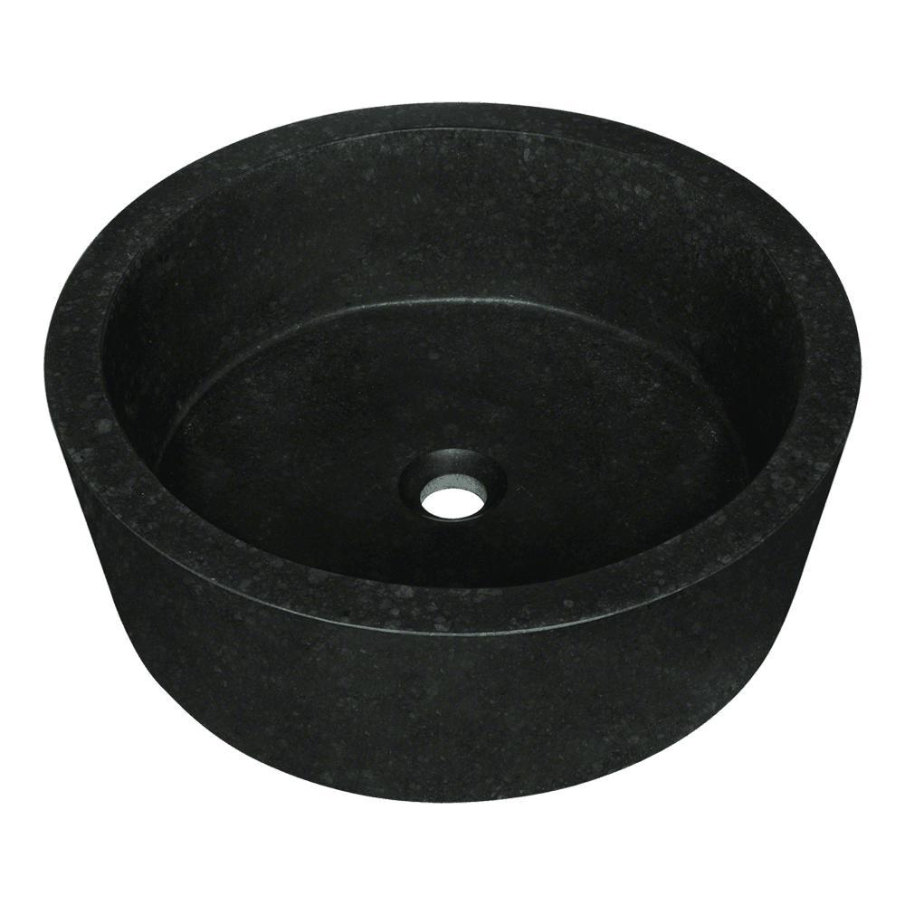 Superieur MR Direct Stone Vessel Sink In Honed Basalt Black Granite