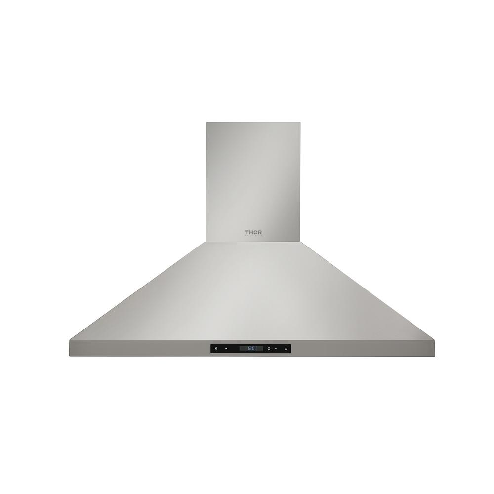 Thor Kitchen 36 In Wall Mount Led Light Range Hood Stainless Steel