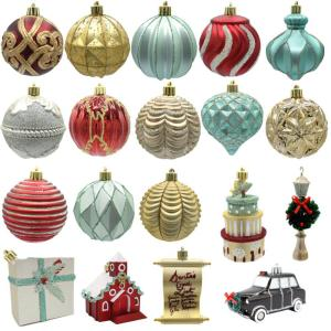 Sugarplum Knoll Assorted Ornament Gold (19-Count)