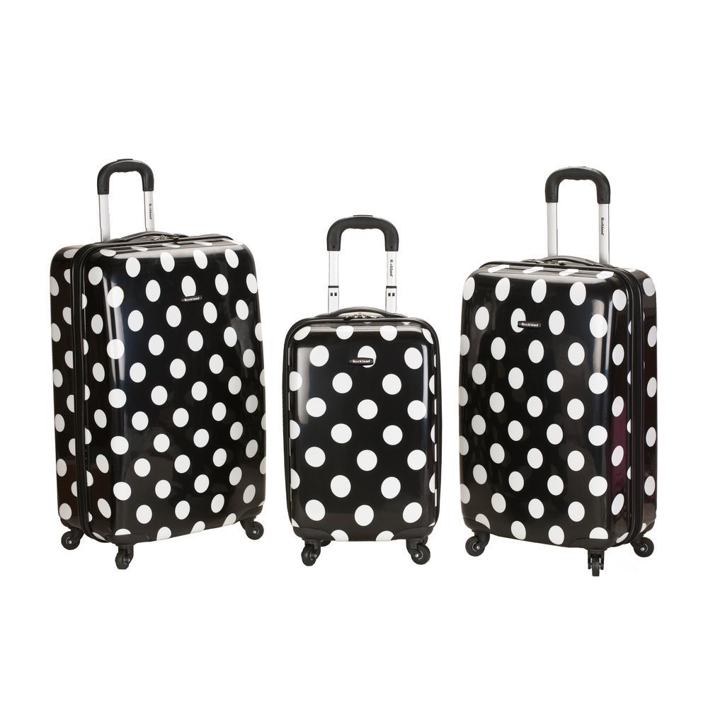 Rockland Laguna Beach 3-Piece Hardside Spinner Luggage Set