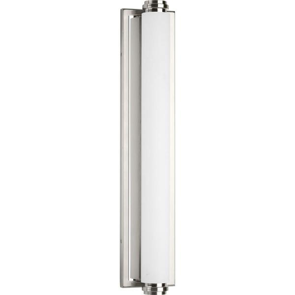Progress Lighting Concourse Collection 37 Watt Brushed Nickel Integrated Led Bath Light P300093 009 30 The Home Depot