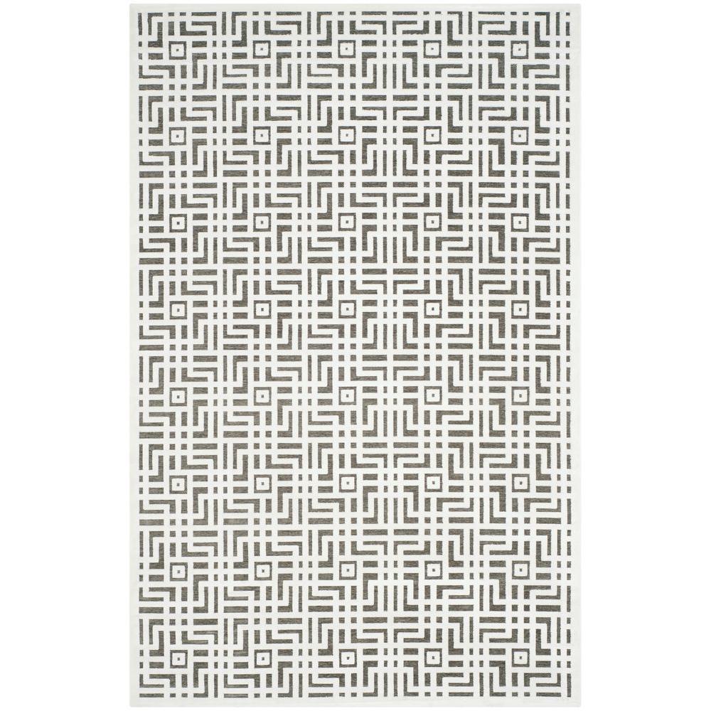 Paradise Ivory/Dark Grey 5 ft. 1 in. x 7 ft. 6