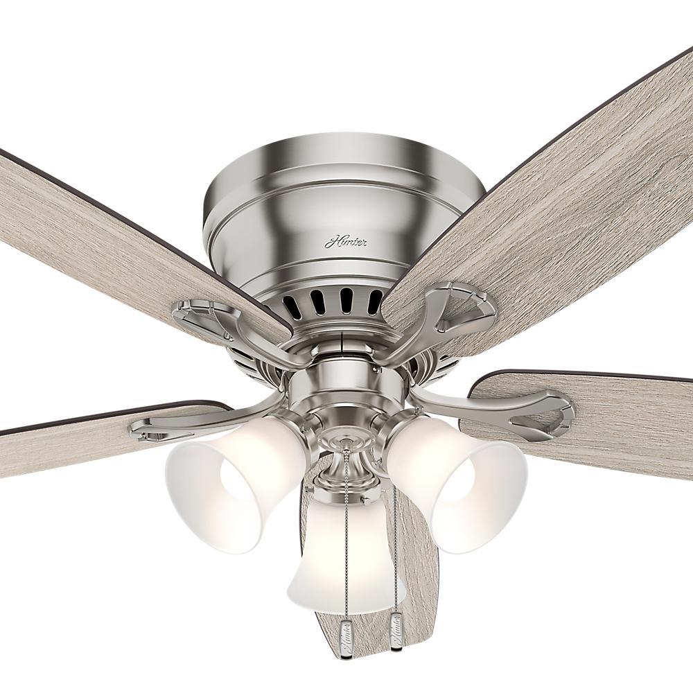 Hunter Oakhurst Ii 52 In Low Profile, Home Depot Hunter 52 Inch Ceiling Fans