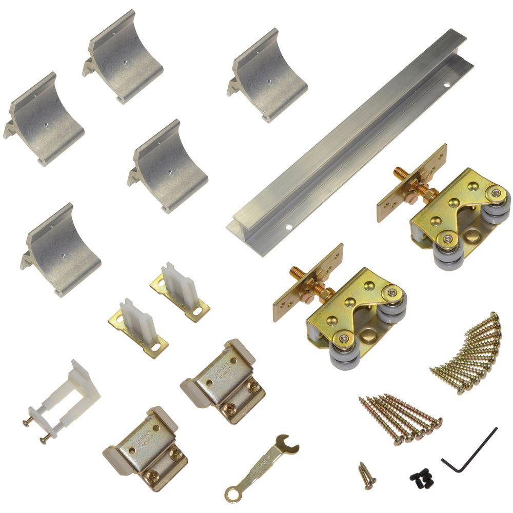 Wall mount sliding door hardware set - Johnson Hardware 200wm Series 72 In Track And Hardware Set For Wall Mount Sliding