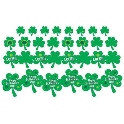 St. Patrick's Day Paper Cutout Assortment (12-Count, 3-Pack)