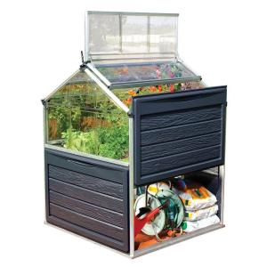 Palram Plant Inn 4 ft. x 4 ft. Polycarbonate Greenhouse by Palram