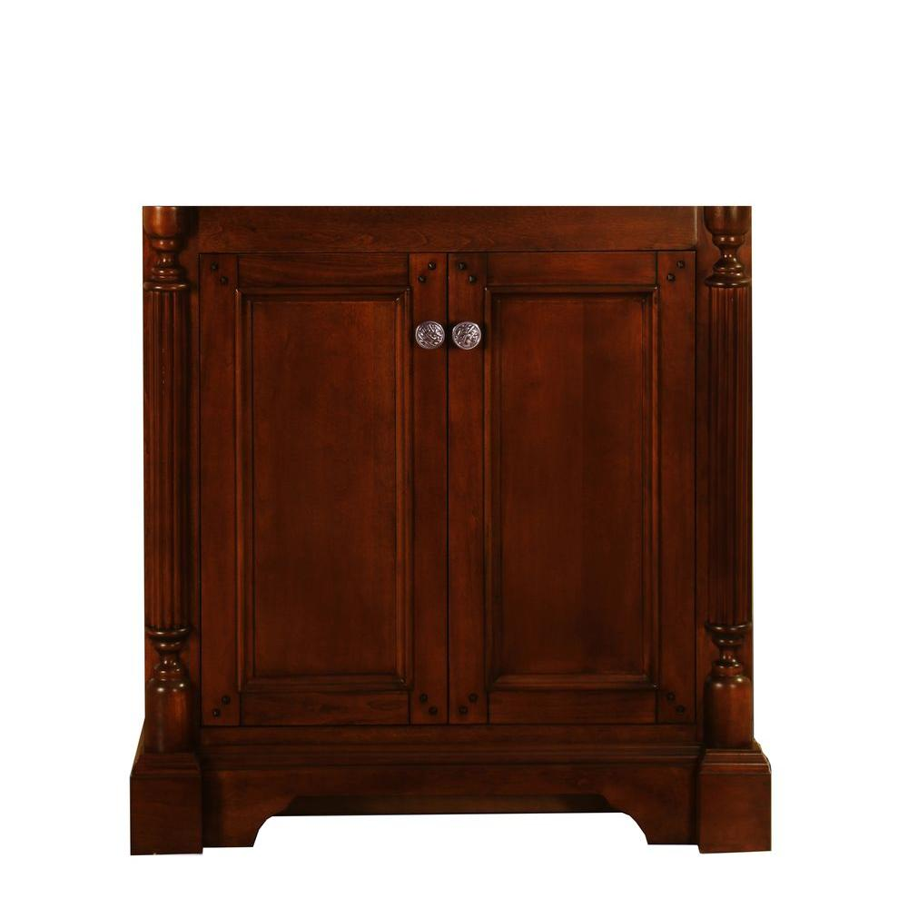 Virtu USA Megan 30 in. W x 21-1/2 in. D x 33 in. H Vanity Cabinet Only in Antique Oak-DISCONTINUED