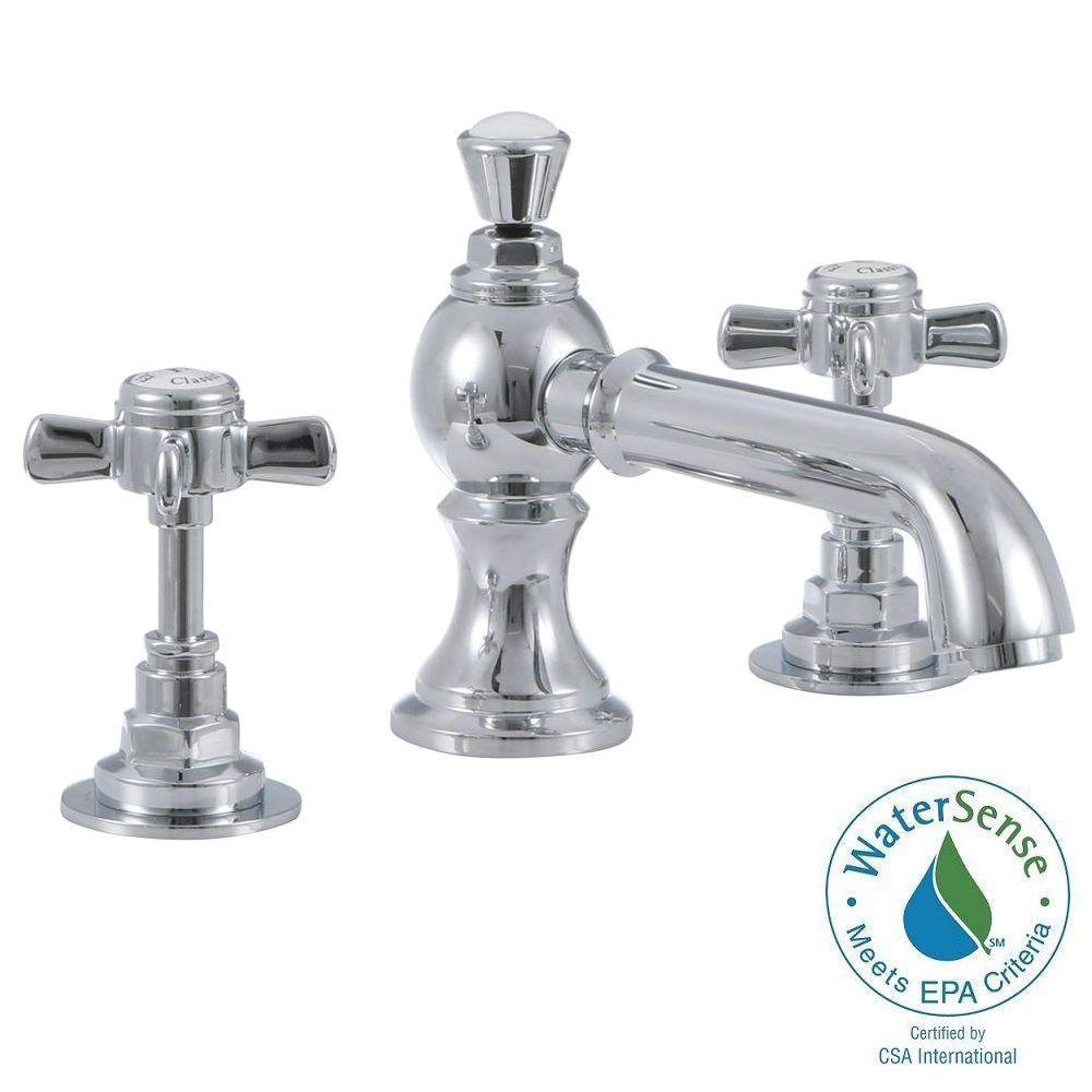 Wiltshire 8 in. Widespread 2-Handle Mid-Arc Bathroom Faucet in Chrome