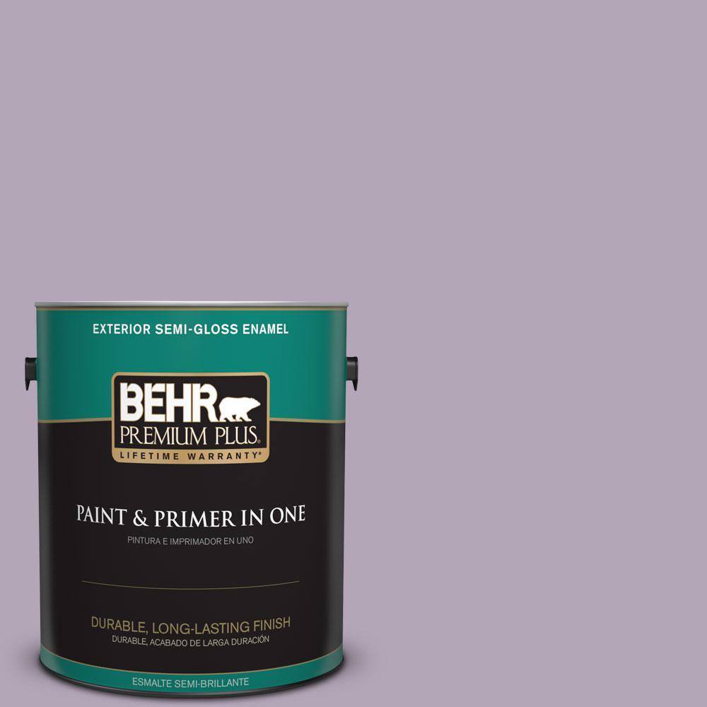 1-gal. #660F-4 Plum Frost Semi-Gloss Enamel Exterior Paint