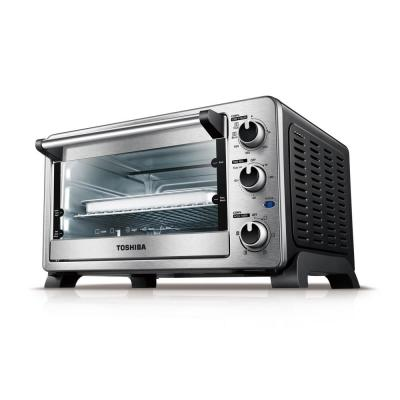 Toshiba-1500 W 6-Slice Stainless Steel Convection Toaster Oven with Broiler