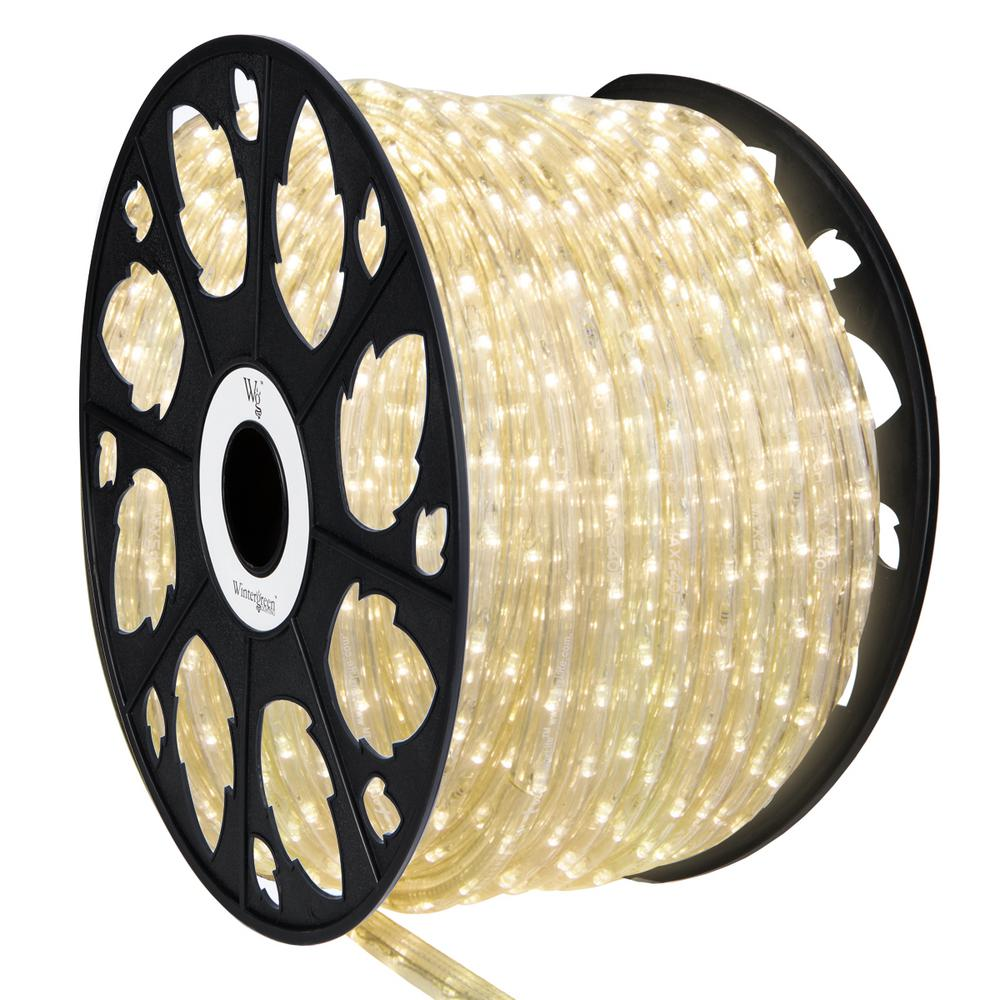 Wintergreen Lighting 150 Ft 1800 Light Warm White Led Rope Kit