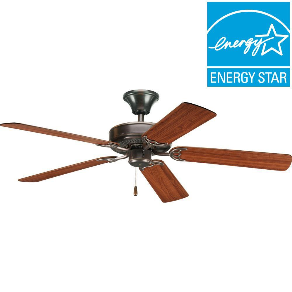 Progress Lighting Airpro Builder 52 In Indoor White Ceiling Fan P2501 30 The Home Depot