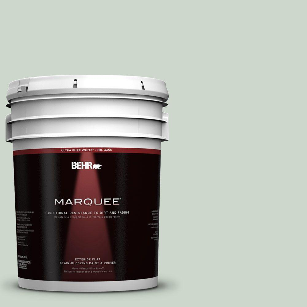 BEHR MARQUEE 5-gal. #450E-2 April Mist Flat Exterior Paint