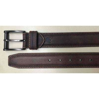 Men's Size 44 Brown Smooth Padded Genuine Leather Belt