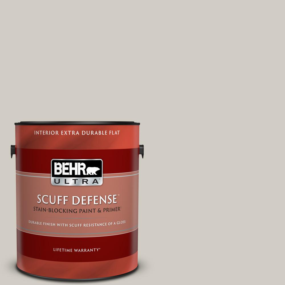 Behr Ultra 1 Gal Home Decorators Collection Hdc Nt 20 Cotton Grey Extra Durable Flat Interior Paint And Primer 172001 The Home Depot