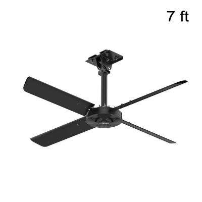 lighting industrial indoor fan black phase the ceiling hvls with lights fans n depot single home hunter b compressed volt commercial without anodized
