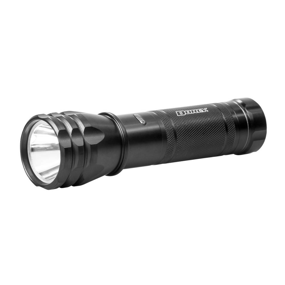 Dorcy 650 Lumen 3AAA K2 Luxeon LED Battery Indicator Flashlight with Battery