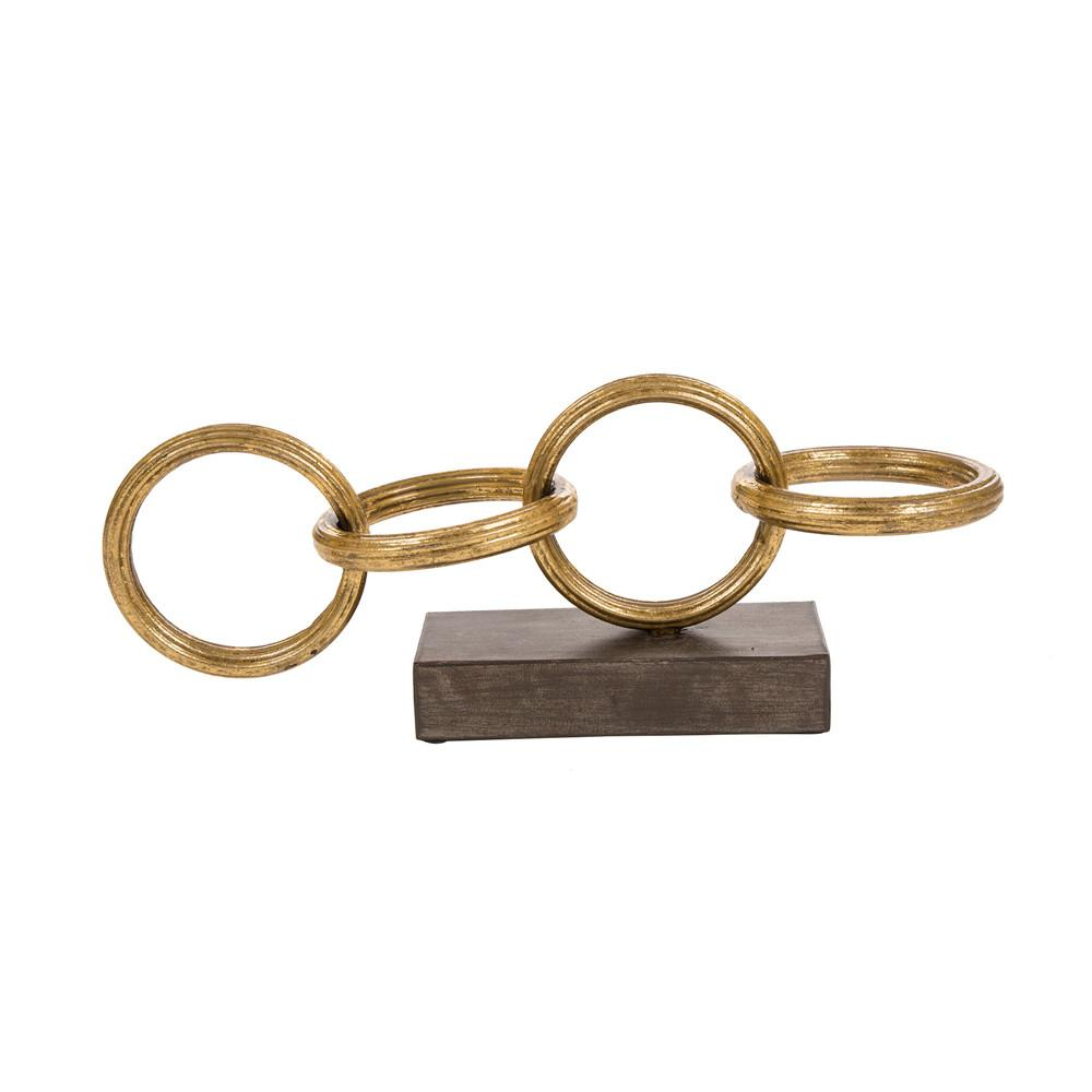 Glitzhome 17.32 in. L Gold Accent Ring Chain Tabletop Decor was $34.99 now $19.12 (45.0% off)