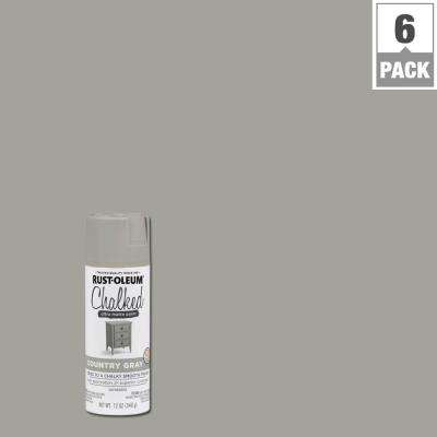12 oz. Chalked Country Gray Ultra Matte Spray Paint (6-Pack)