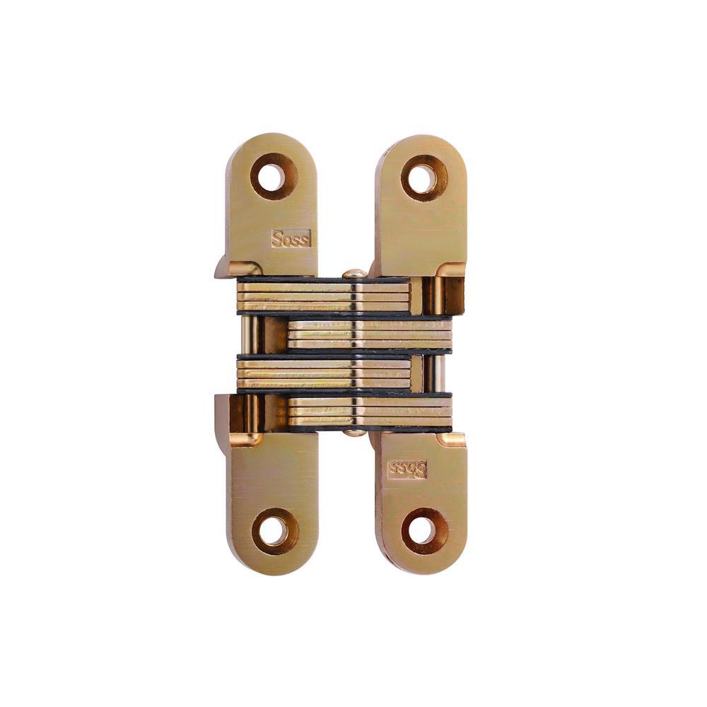 3/4 in. x 3-3/4 in. Satin Brass Invisible Hinge