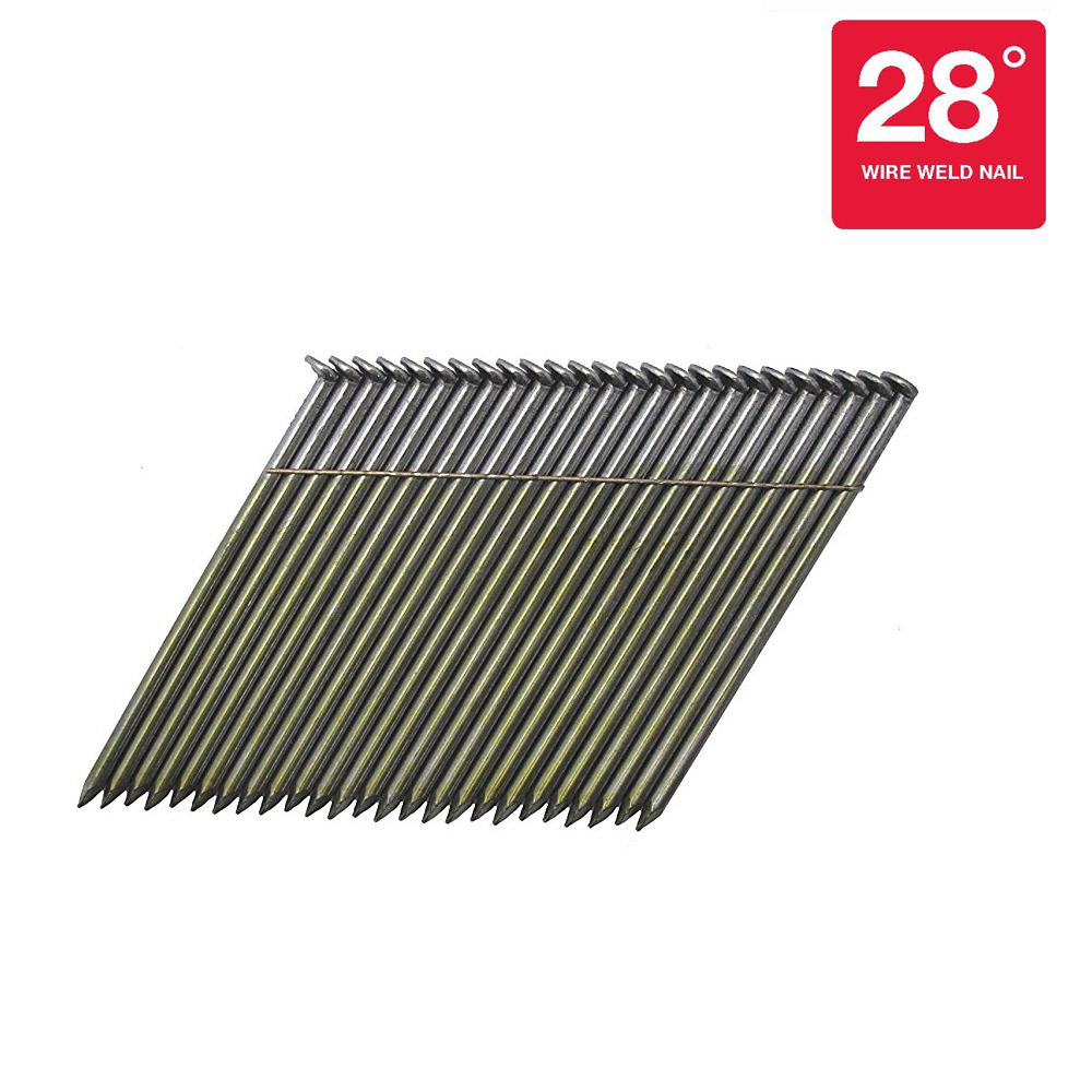 3-1/4 in. x 0.120 in. 28° Hot Dipped Galvanized Smooth Shank