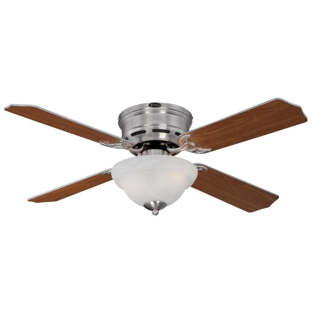 Westinghouse hadley 42 in brushed nickel ceiling fan 7212800 the home depot - Westinghouse and living ...