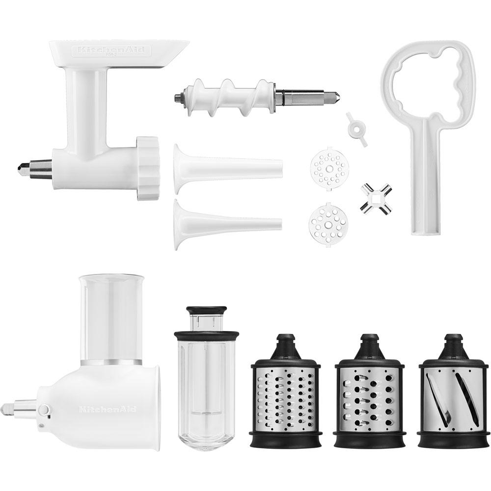 Gentil KitchenAid Power Hub Attachment Pack For KitchenAid Stand Mixers  (Slicer/Shredder And Grinder Sausage