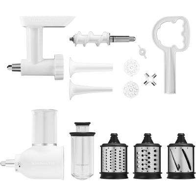 Power Hub Attachment Pack for KitchenAid Stand Mixers (Slicer/Shredder and Grinder Sausage Stuffer)