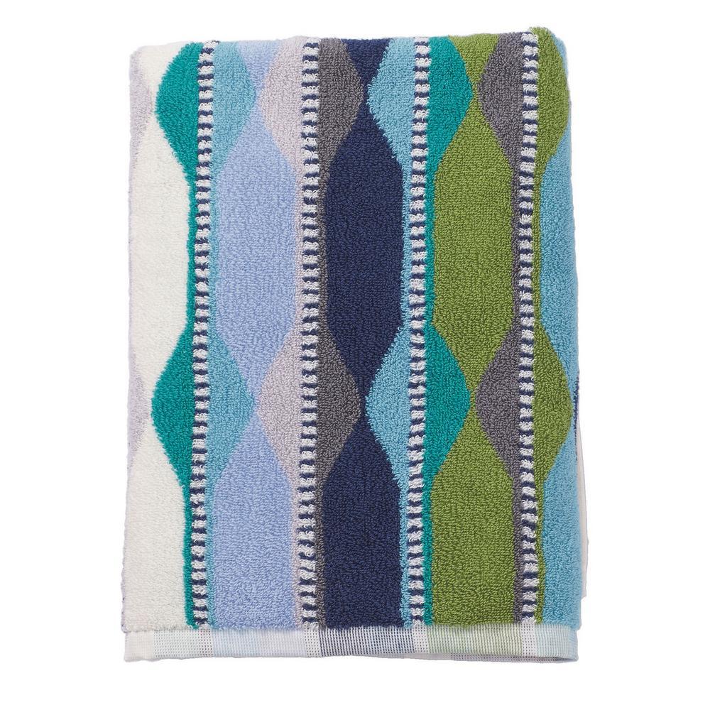 Wave Lengths Cotton Bath Towel