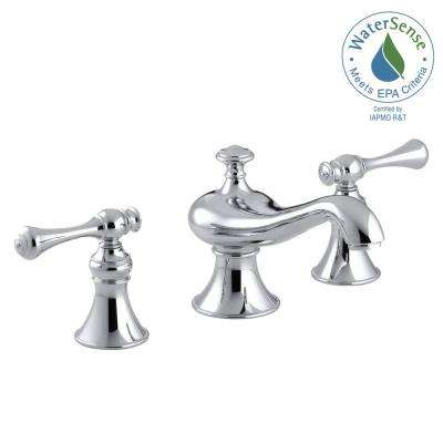Revival 8 in. Widespread 2-Handle Low-Arc Water-Saving Bathroom Faucet in Polished Chrome