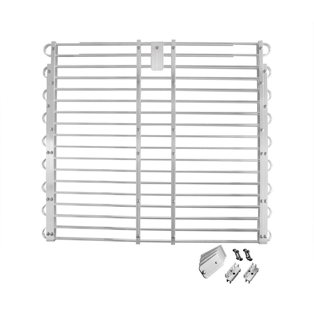 Adjust-A-Grate 34 to 37 in. x 60 to 66 in. Aluminum Adjustable Window Well Grate