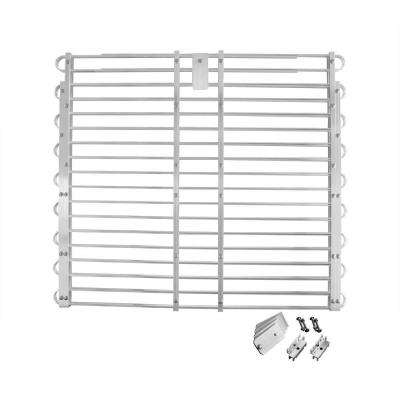 34 to 37 in. x 60 to 66 in. Aluminum Adjustable Window Well Grate