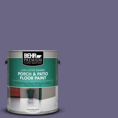 1 gal. #PPU16-18 Hyacinth Arbor Low-Lustre Porch and Patio Floor Paint