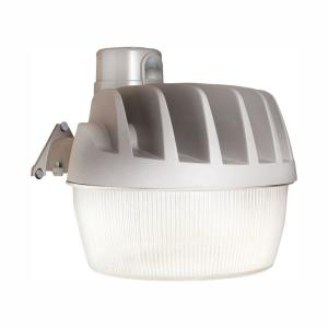 Gray Outdoor LED Area and Wall Dusk to Dawn Security Light with Replaceable Photo Control, 5500 Lumens