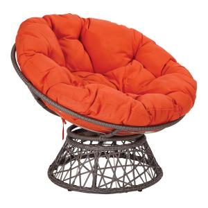 Phenomenal Osp Home Furnishings Papasan Chair With Orange Round Pillow Pabps2019 Chair Design Images Pabps2019Com