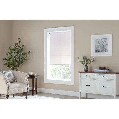 Cut-to-Size White Cordless Light Filtering Vinyl Roller Shades 37.25 in. W x 72 in. L