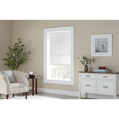 Cut-to-Size White Cordless Light Filtering Vinyl Roller Shades 73.25 in. W x 72 in. L