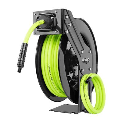 3/8 in. x 50 ft. Open Faced Retractable Air Hose Reel with Single Axle Arm & 1/4 in. MNPT Fitting