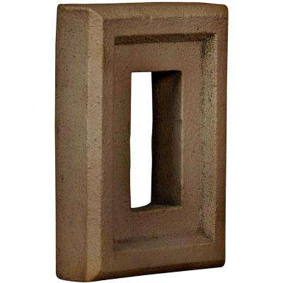 2 in. x 6-1/4 in. x 8-1/4 in. Terrastone Urethane Universal Electrical Outlet for Stone and Rock Wall Panels