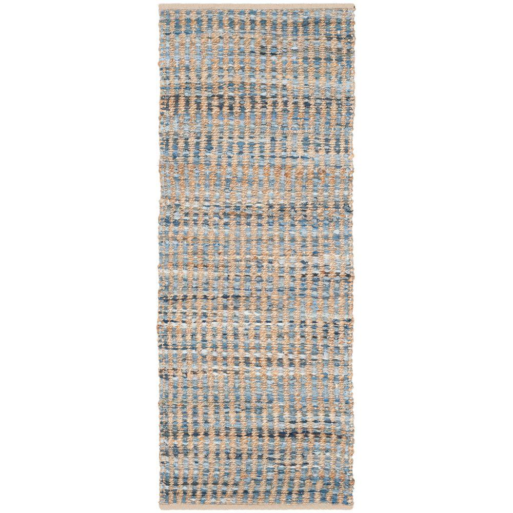 Safavieh Cape Cod Natural/Blue 2 ft. 3 in. x 6 ft. Runner
