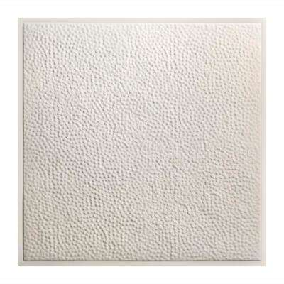 Chicago 2 ft. x 2 ft. Lay-In Tin Ceiling Tile in Antique White (Case of 5)